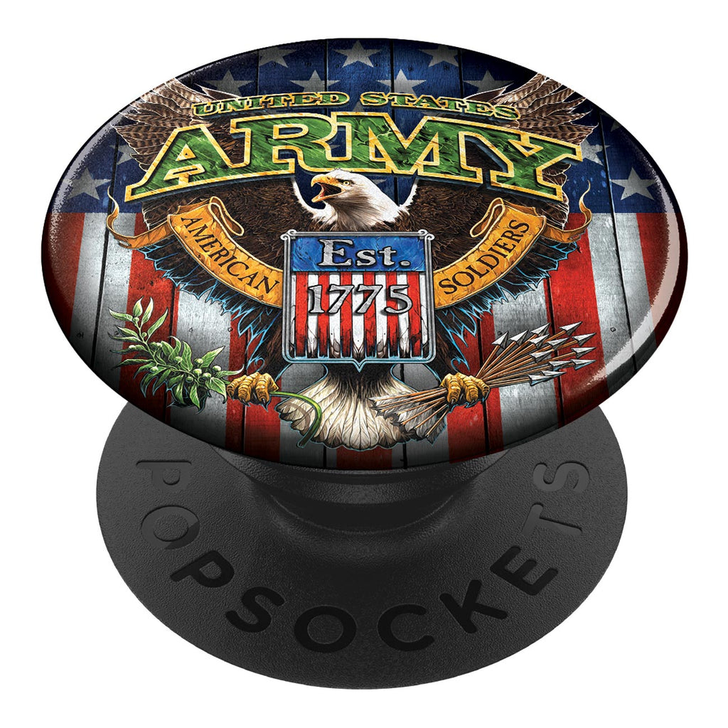 7.62 Design U.S. Army Fighting Eagle PopSocket Cell Phone Grip & Stand - Officially Licensed- 7.62 Design