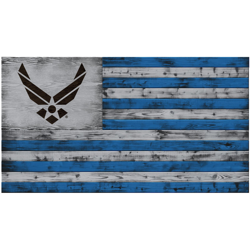 USAF Logo Wood Flag