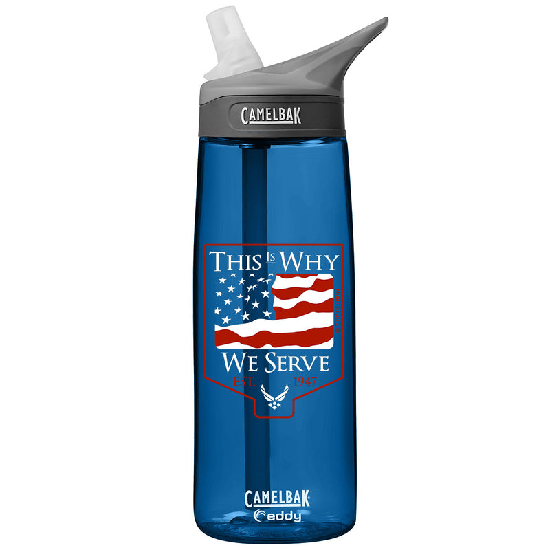 US Air Force Mom .75 Liter Camelbak Eddy Bottle Dragonfruit/White