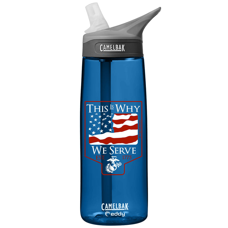 USMC 'This is Why' .75 Liter Camelbak Eddy Bottle Oxford- 7.62 Design