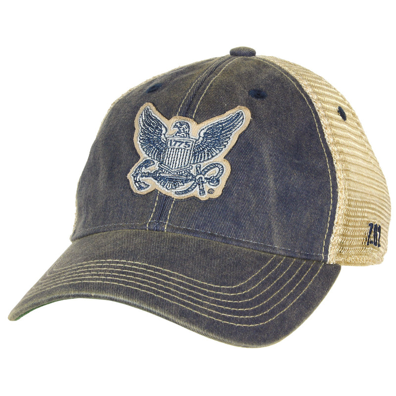 US Navy Logo Vintage Trucker Hat