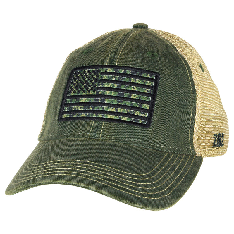 USN Type-3 Flag Vintage Trucker Hat