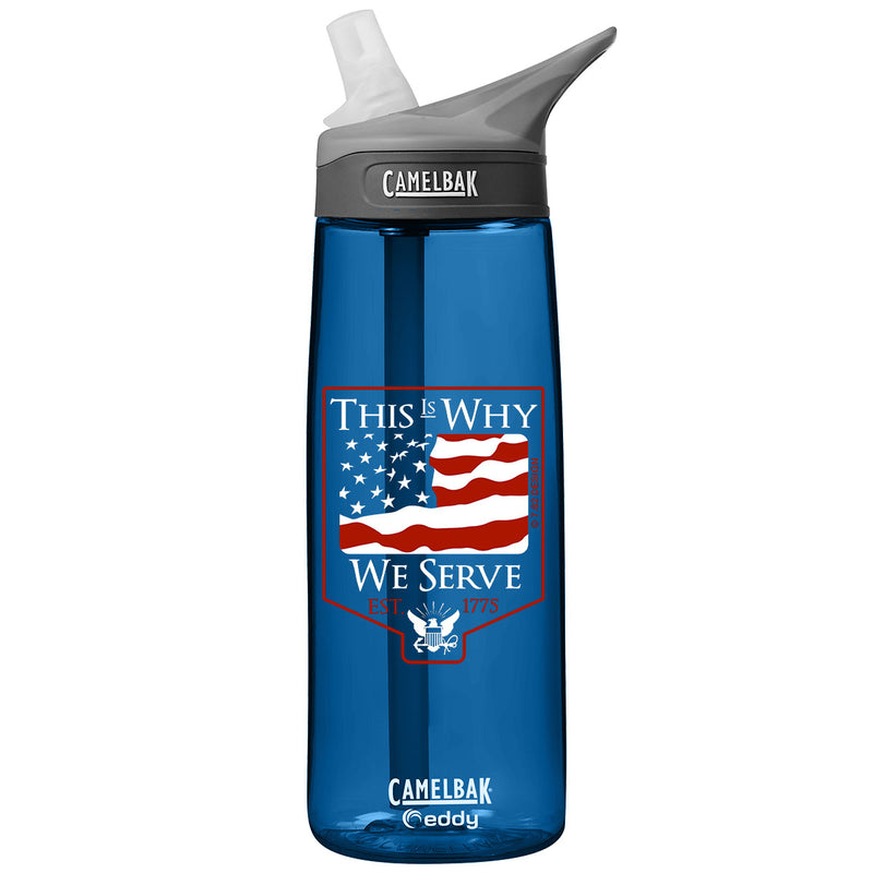 US Navy 'This is Why' .75 Liter Camelbak Eddy Bottle Oxford- 7.62 Design