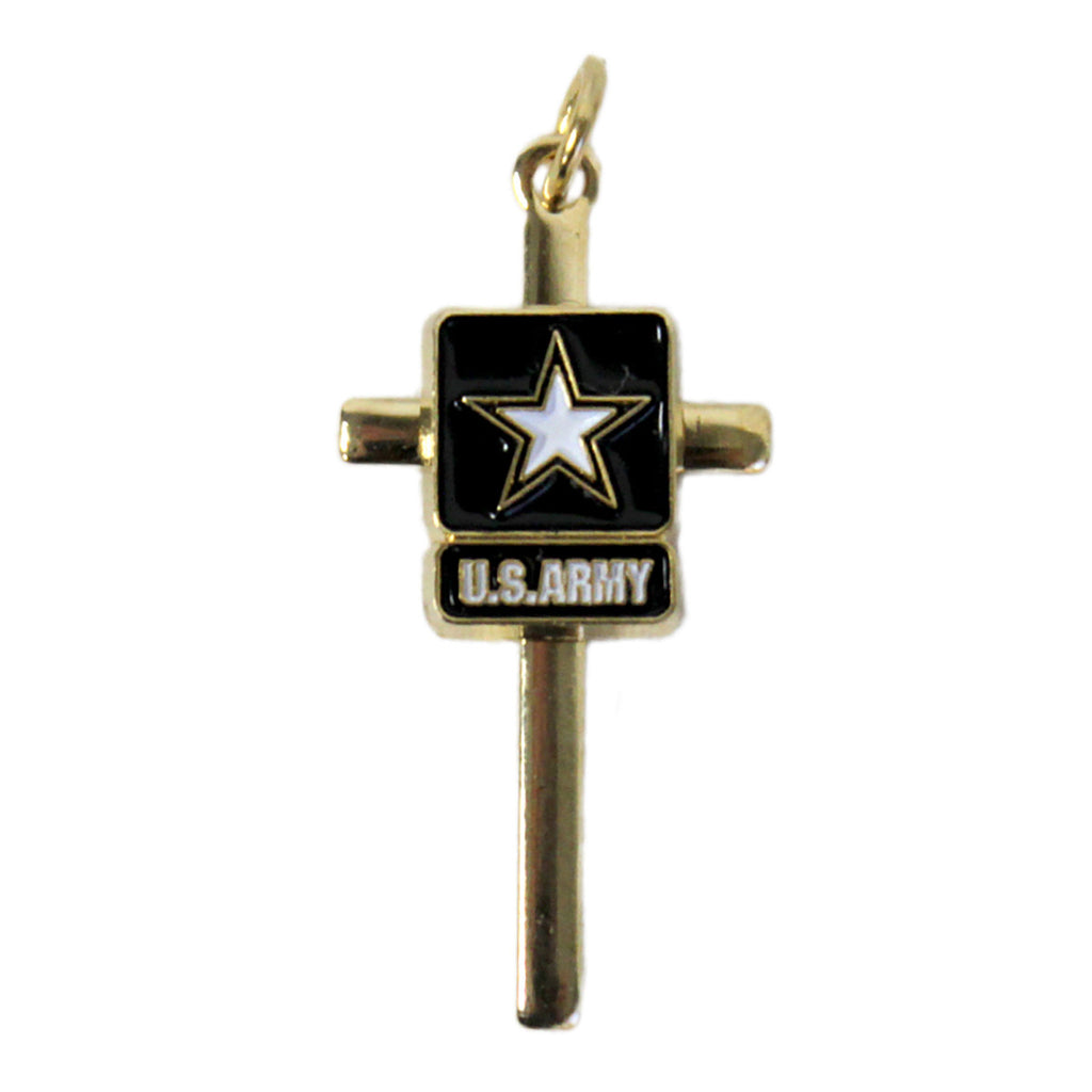 Army Cross Pendant Locket Crest Craft Necklace- 7.62 Design