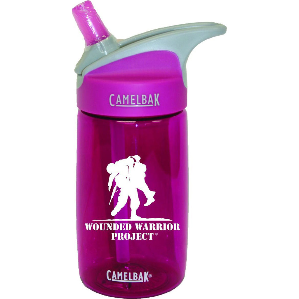 Wounded Warrior .40 Liter Kid's Camelbak Eddy Bottle Berry/White- 7.62 Design