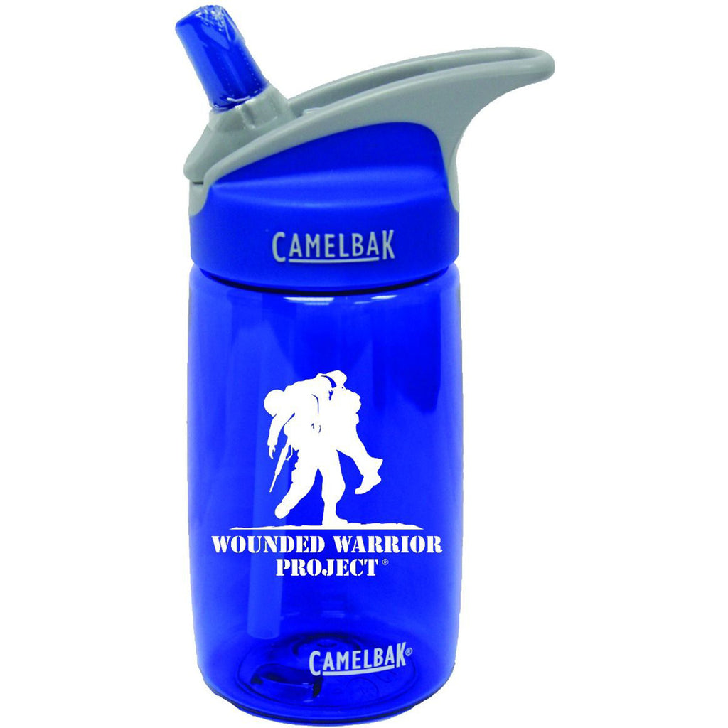 Wounded Warrior .40 Liter Kid's Camelbak Eddy Bottle Blue/White- 7.62 Design