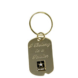 Army 'I Belong To A Soldier' Crest Craft Dog Tag Keychain