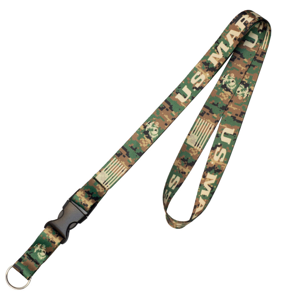 7.62 Design USMC Woodland Lanyard - Officially Licensed USMC Product- 7.62 Design