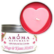 Hugs and Kisses XOXO! - Pink Heart Large Tin