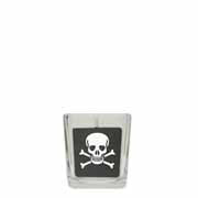 Black Skull & Cross Bones Cube in Square Glass