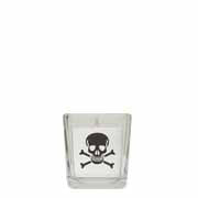 White Skull & Cross Bones Cube in Square Glass