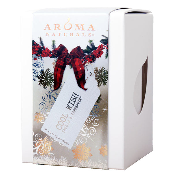 Cool Wish Holiday - 3x3.5 Naturally Blended Pillar