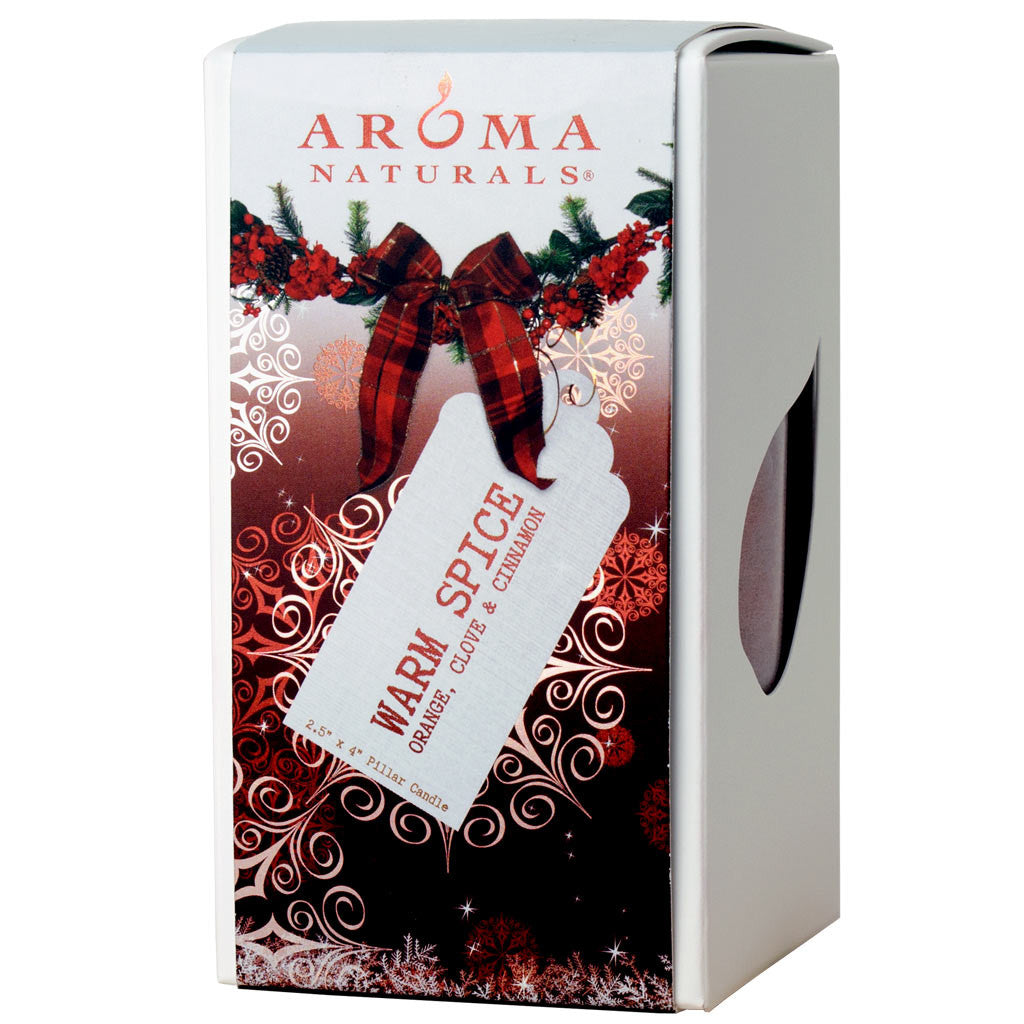 Warm Spice Holiday - 2.5x4 Naturally Blended Pillar