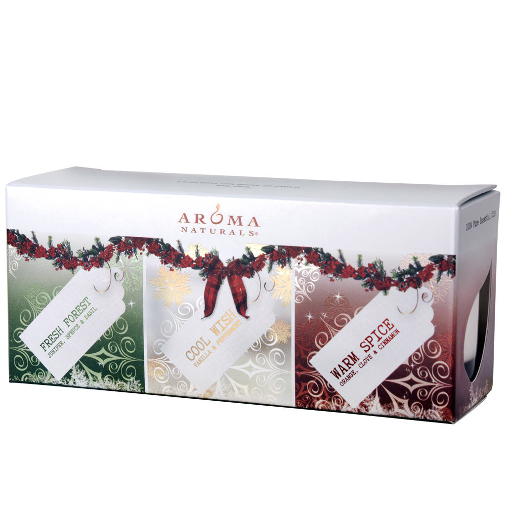 Holiday - Soy Glass Votive 3-Pack Gift Set