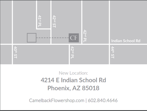 Camelback Flowershop New Location