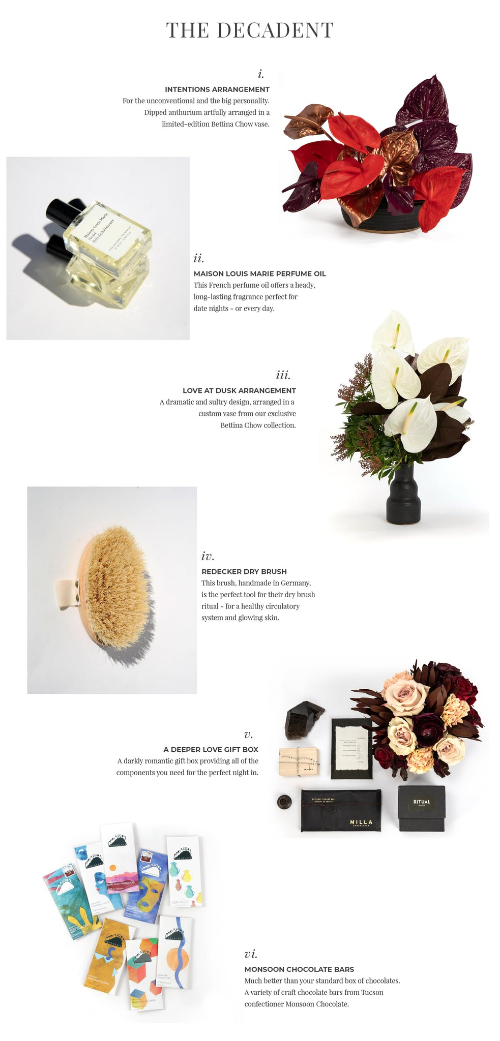 Valentine's Day Gifts Phoenix Florist Camelback Flowershop Gift Guide: The Decadent