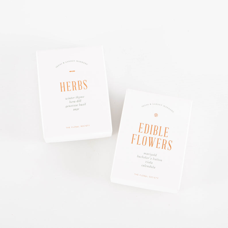 Herb + Edible Flower Seed Packets