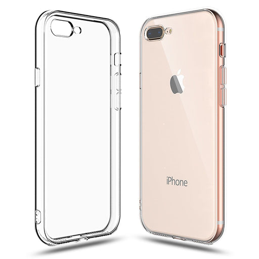 Clear Case for iPhone 8 Plus and iPhone 7 Plus Transparent TPU Shock Absorption