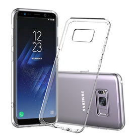 Samsung Galaxy S8 Plus Slim Case Clear Transparent Thin TPU Silicone Soft Cover Rubber