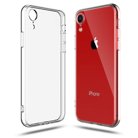 For iPhone XR Clear Transparent Case Shock Absorption TPU (2018 Model)