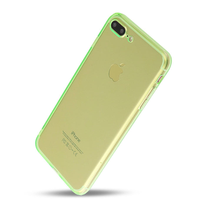 iPhone 7 Plus and iPhone 8 Plus Case Thin Rubber Transparent Soft Silicone Shockproof Green