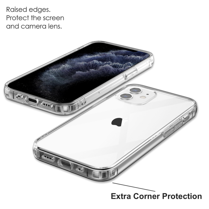 Crystal Clear Case for iPhone 12 Mini with Cushion Design