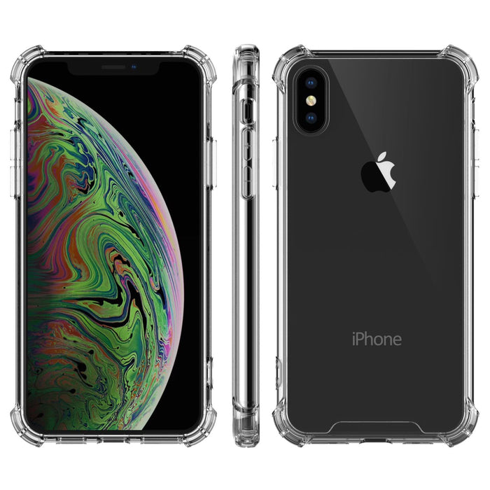 For iPhone XS Max Crystal Clear Shockproof with TPU Bumpers and Anti Scratch clear back(Clear)