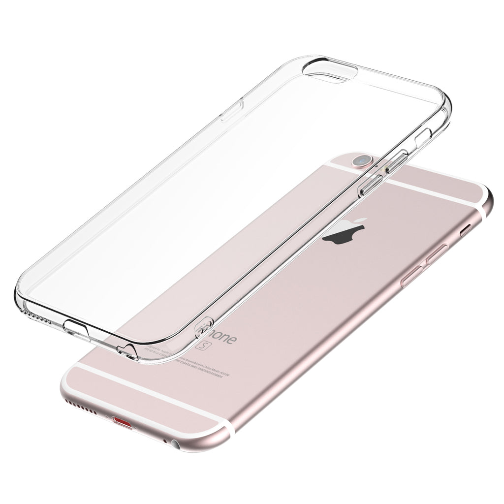 Clear Case for iPhone 6s Plus and 6 Plus Slim Thin TPU Silicone Soft Cover Rubber
