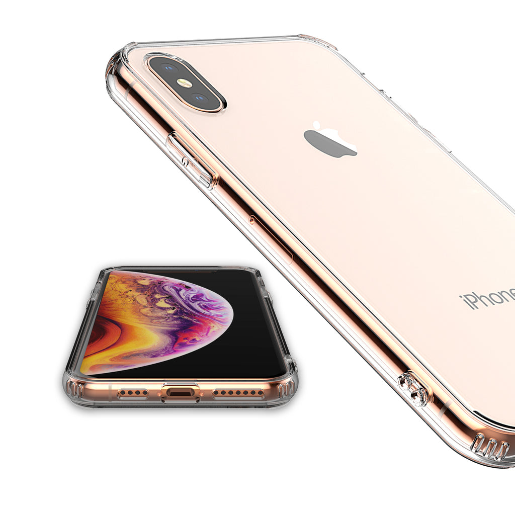 For iPhone XS Max Clear Transparent Case Shock Absorption TPU (Clear) (2018 Model)