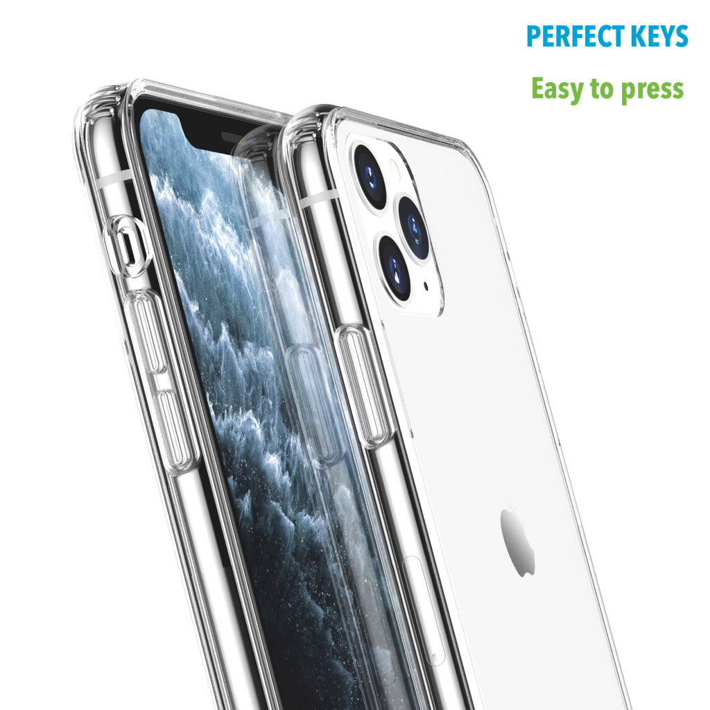 Crystal Clear Case for iPhone 11 Pro Max with Air-Cushion Design