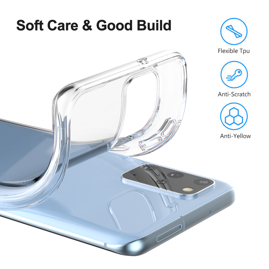 Soft TPU Clear Case for Galaxy S20 Plus