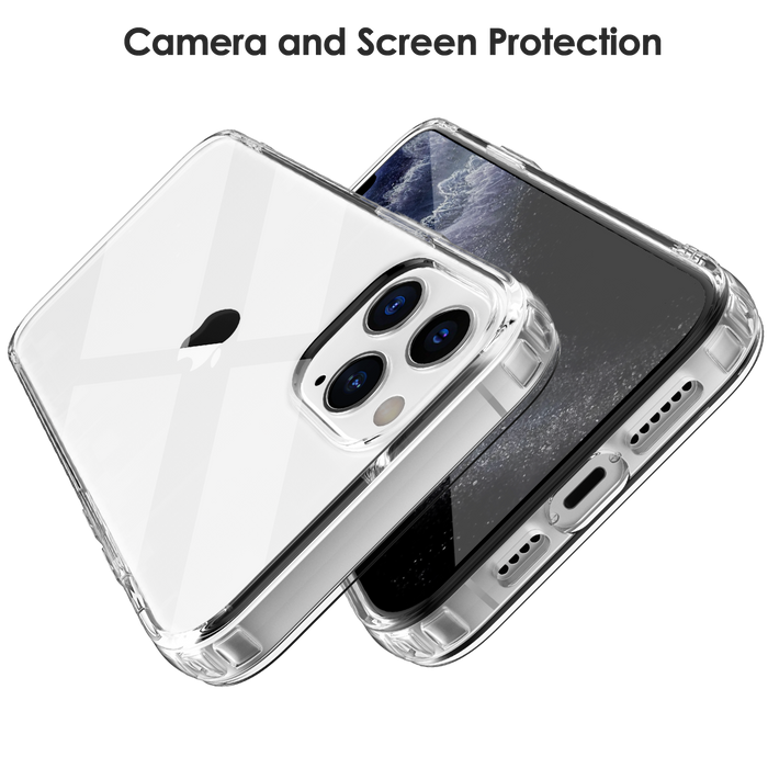 Crystal Clear Case for iPhone 12 Pro Max with Cushion Design