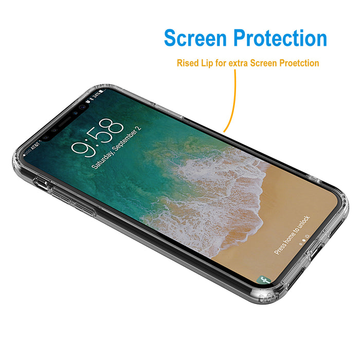 For iPhone XS and X Clear Case TPU Rubber Silicone Transparent Shock-Proof