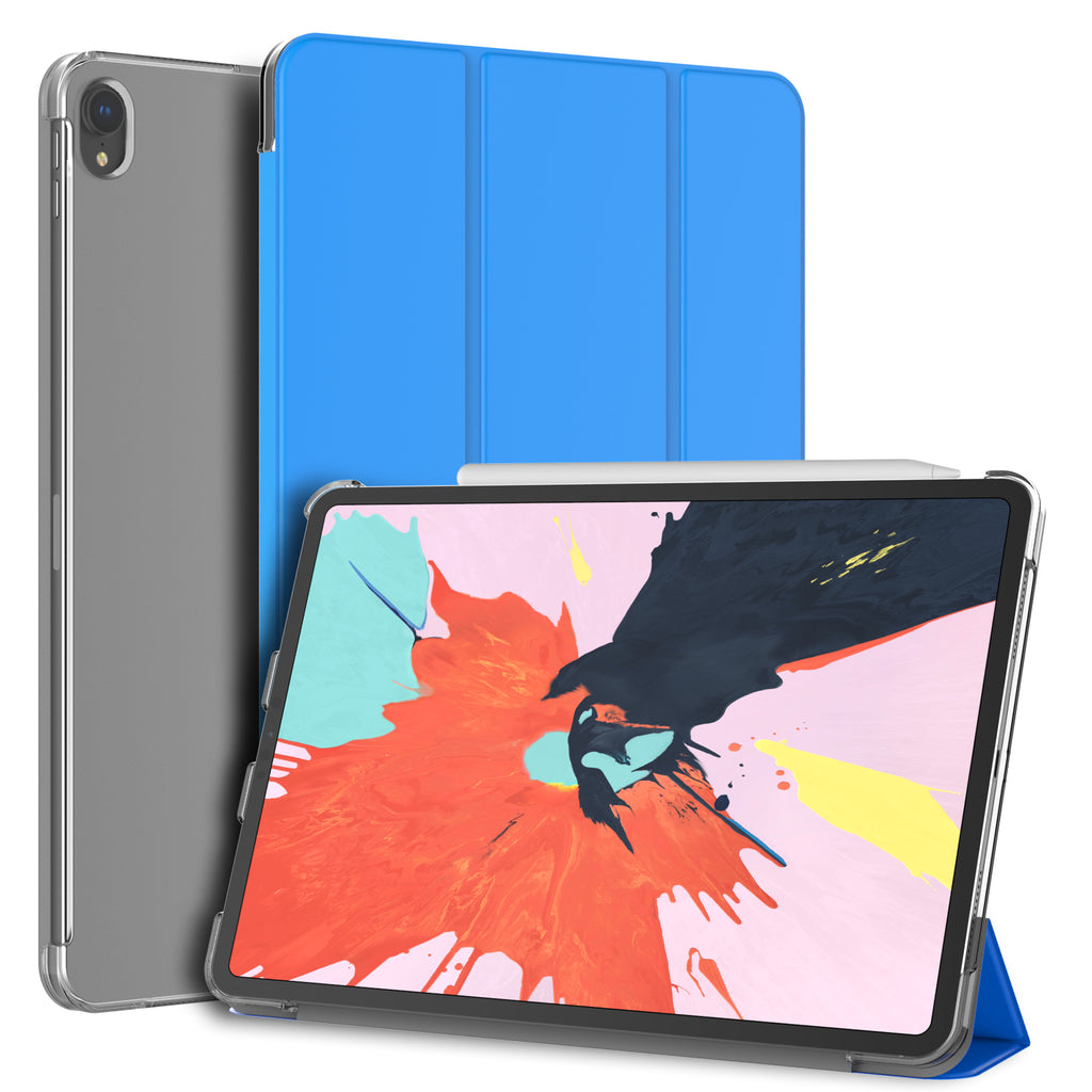 For iPad Pro 11-inch Smart Case Shell, Trifold Sleep-Wake Feature
