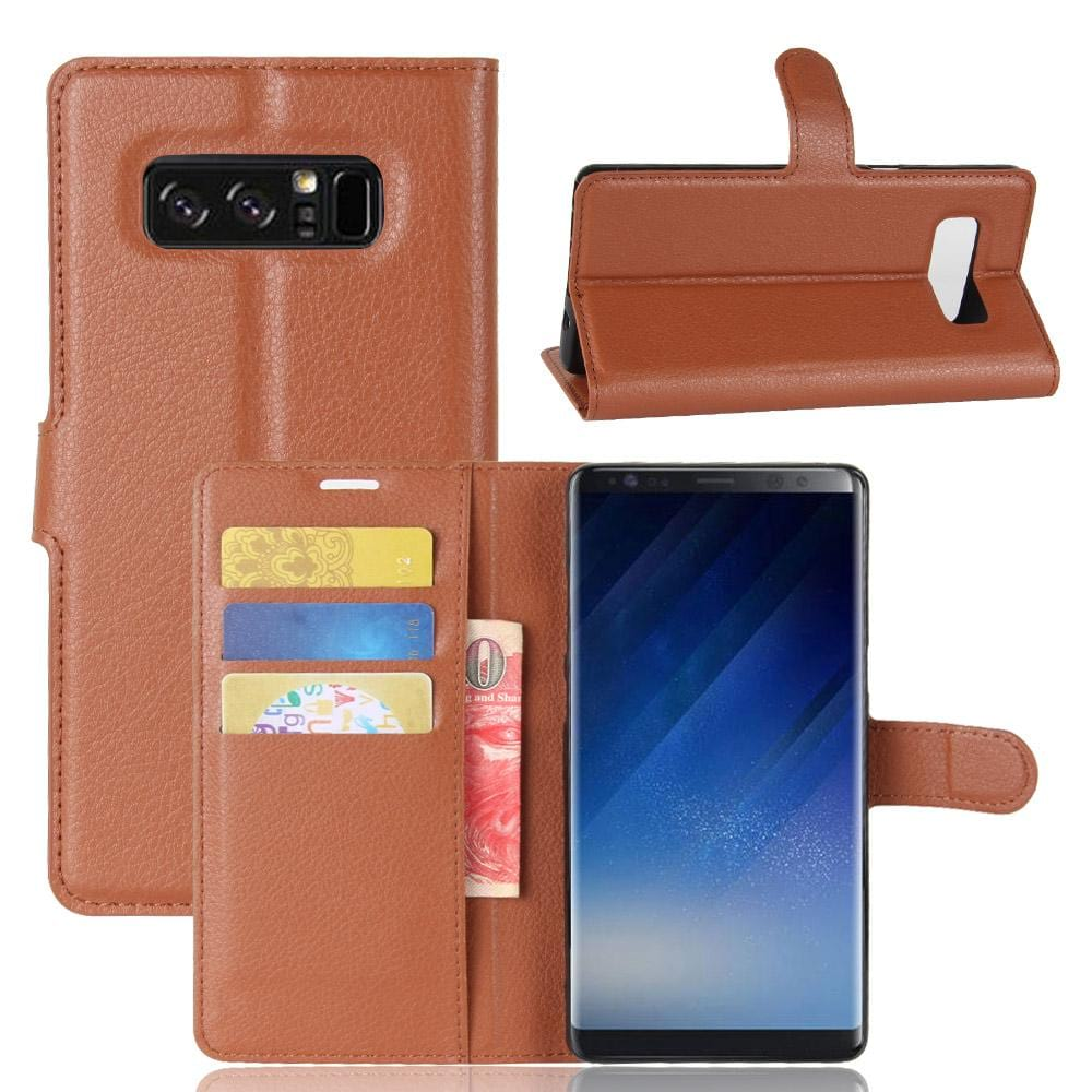 Galaxy Note 8 Wallet Case Leather Flip Card Impact Resistant