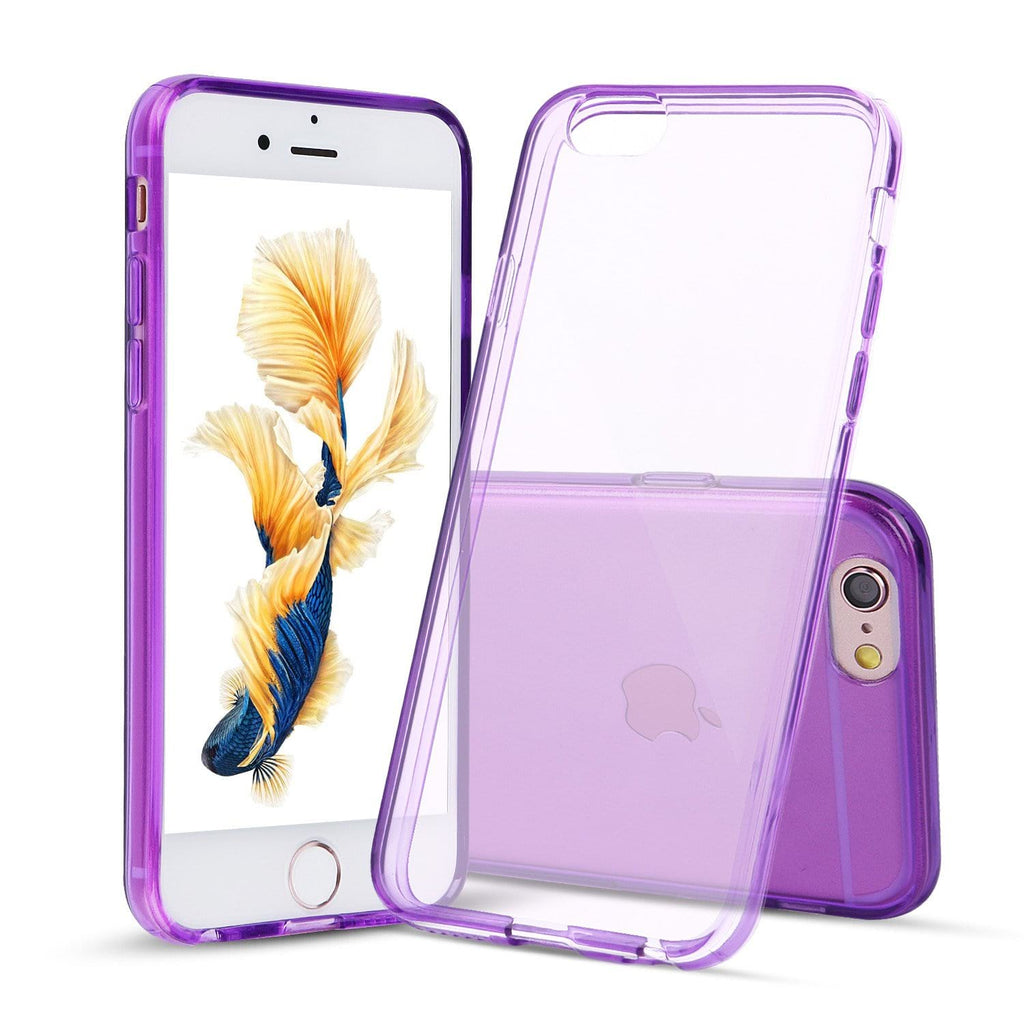Purple Case for iPhone 6s Plus and 6 Plus Slim Thin TPU Silicone Soft Cover Rubber