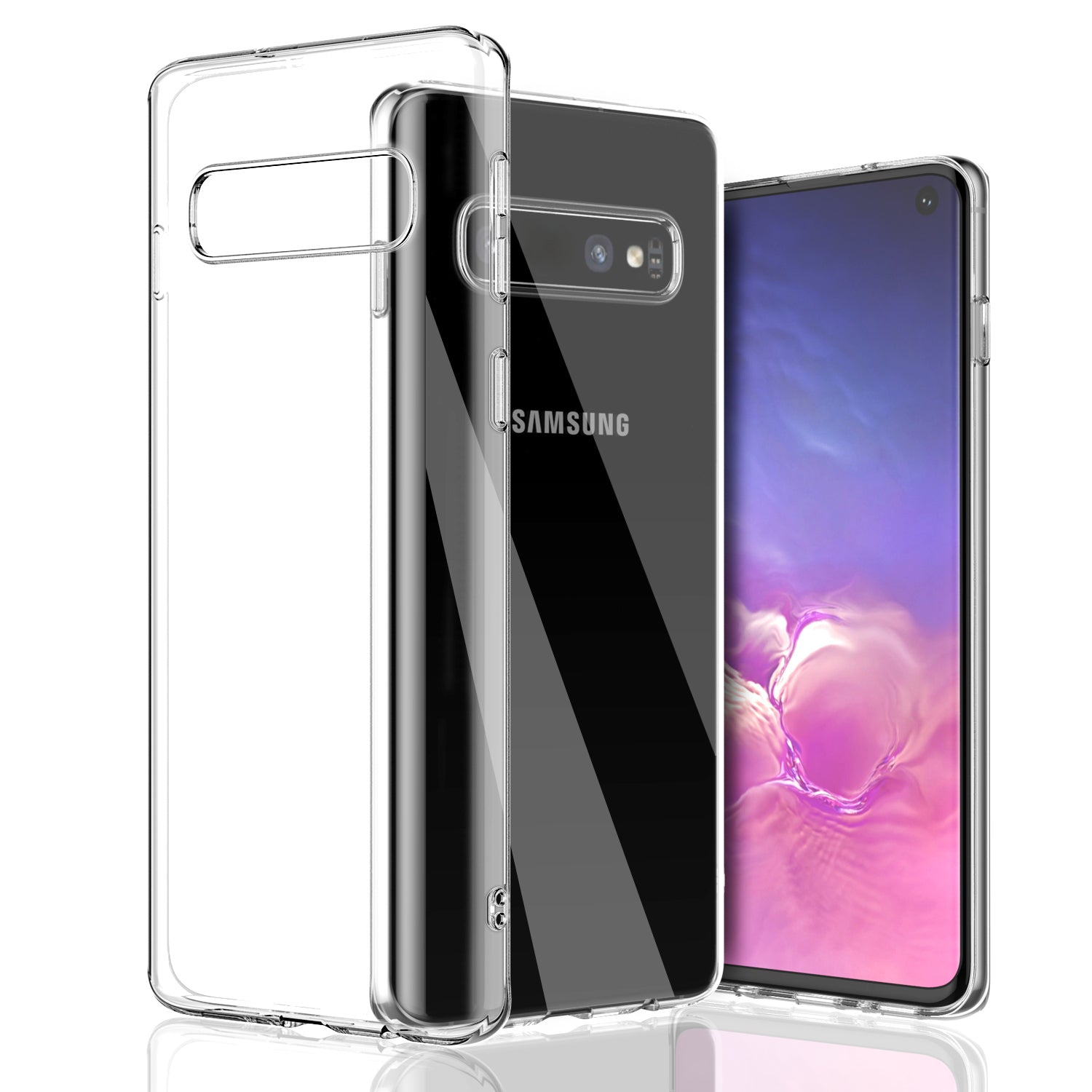 For-Galaxy-S10-S10-Plus-S10e-Clear-Transparent-Case-Shock-Absorption-TPU-Soft thumbnail 11
