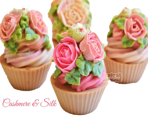 Cashmere and Silk Handmade Artisan Vegan Soap Cupcake