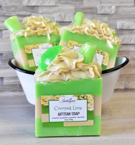 Coconut Lime Verbena Artisan Vegan Soap