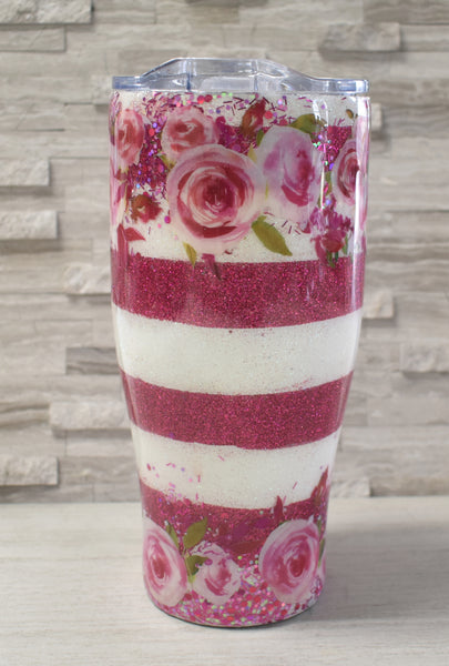 Watercolor Floral Tumbler 30oz