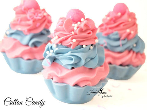 Cotton Candy Handmade Artisan Soap Cupcake