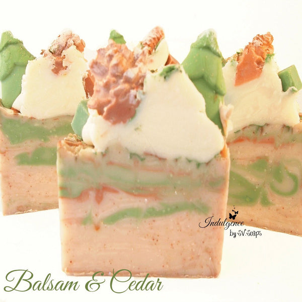 Balsam and Cedar Handmade Artisan Vegan Soap