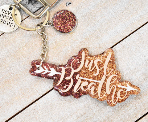 Just Breathe Keychain