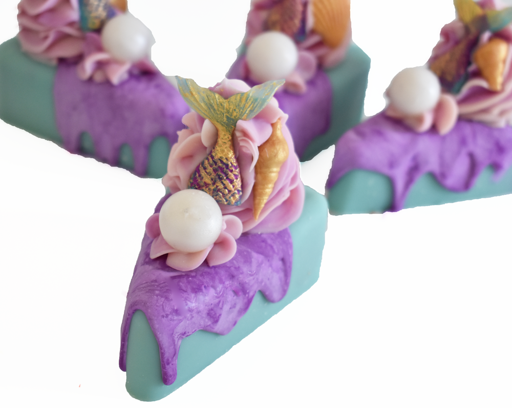 Mermaid Kisses Artisan Soap Cake Slice