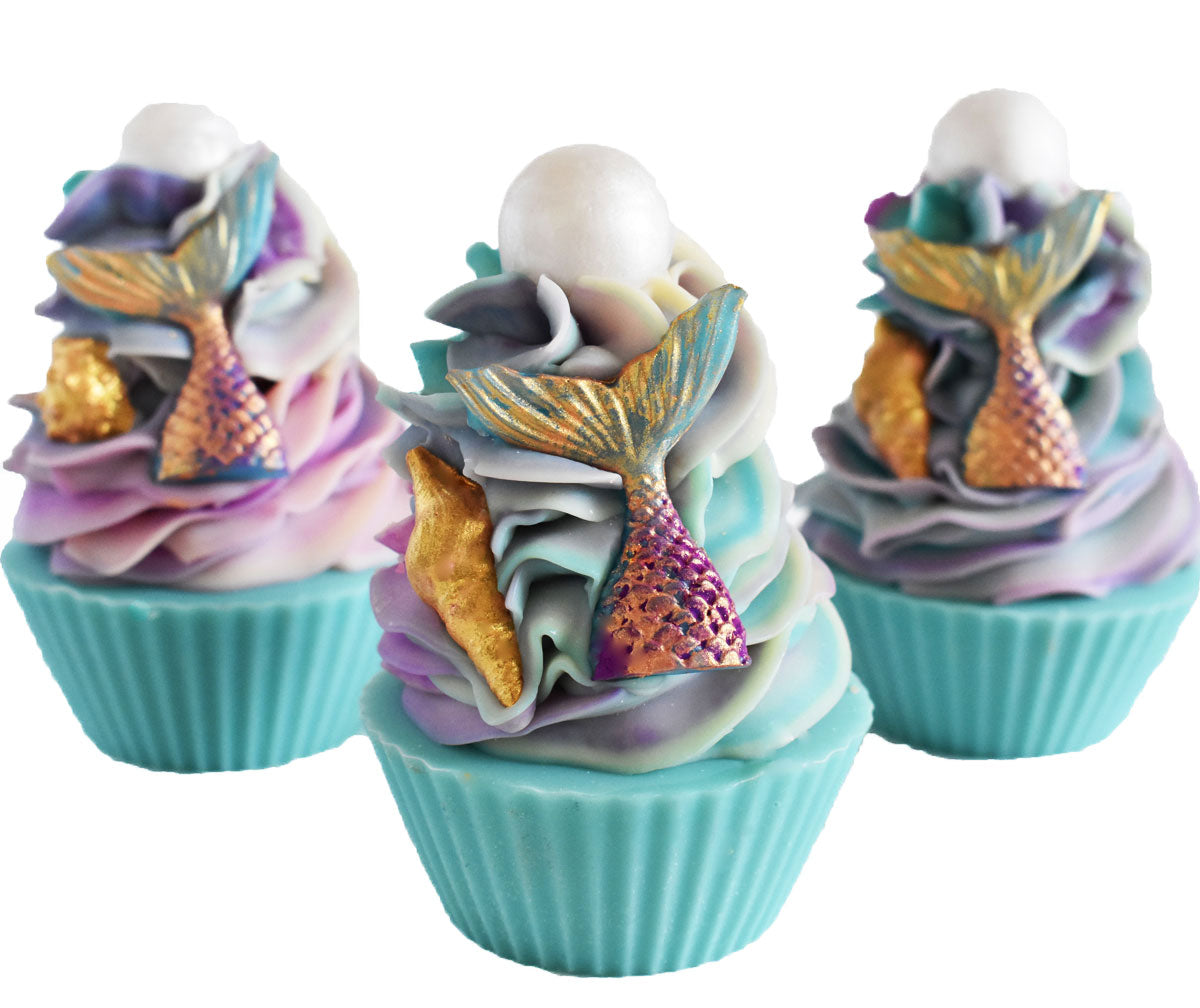 Mermaid Kisses Artisan Vegan Soap Cupcake