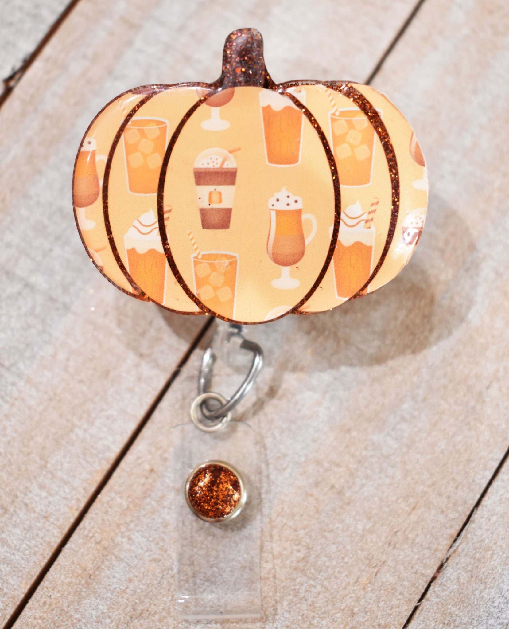 Pumpkin Spice Badge Reel