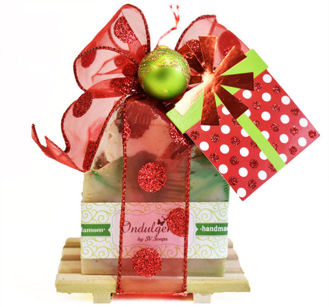 Christmas Soap Dish Gift Set