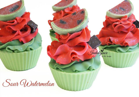 Sour Watermelon Artisan Vegan Soap Cupcake