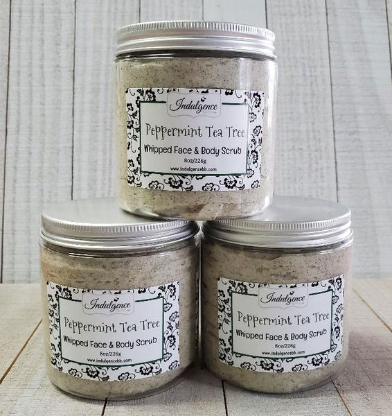 Peppermint Tea Tree Whipped Face & Body Scrub