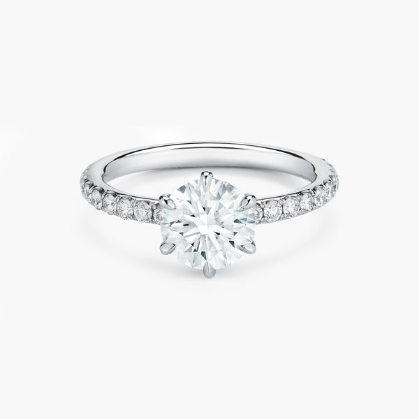 Jade Trau Six-Prong Solitaire
